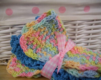 Home,Living,Bathroom,Kitchen,Crochet Cloths ,Cleaning Supplies,Face Cloth,Cotton,Blue,Pink,Yellow,wash cloth