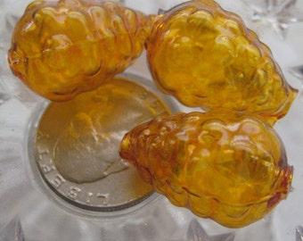 3 Fancy Mercury Glass Christmas Garland Amber Raspberry Beads Czech Republic  052 CA