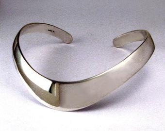 Wide Sterling Silver Collar Neckpiece