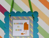 Popsicle Party Door Sign Summer Birthday Party Decor : Popsicle Sign by Belleza e Luce