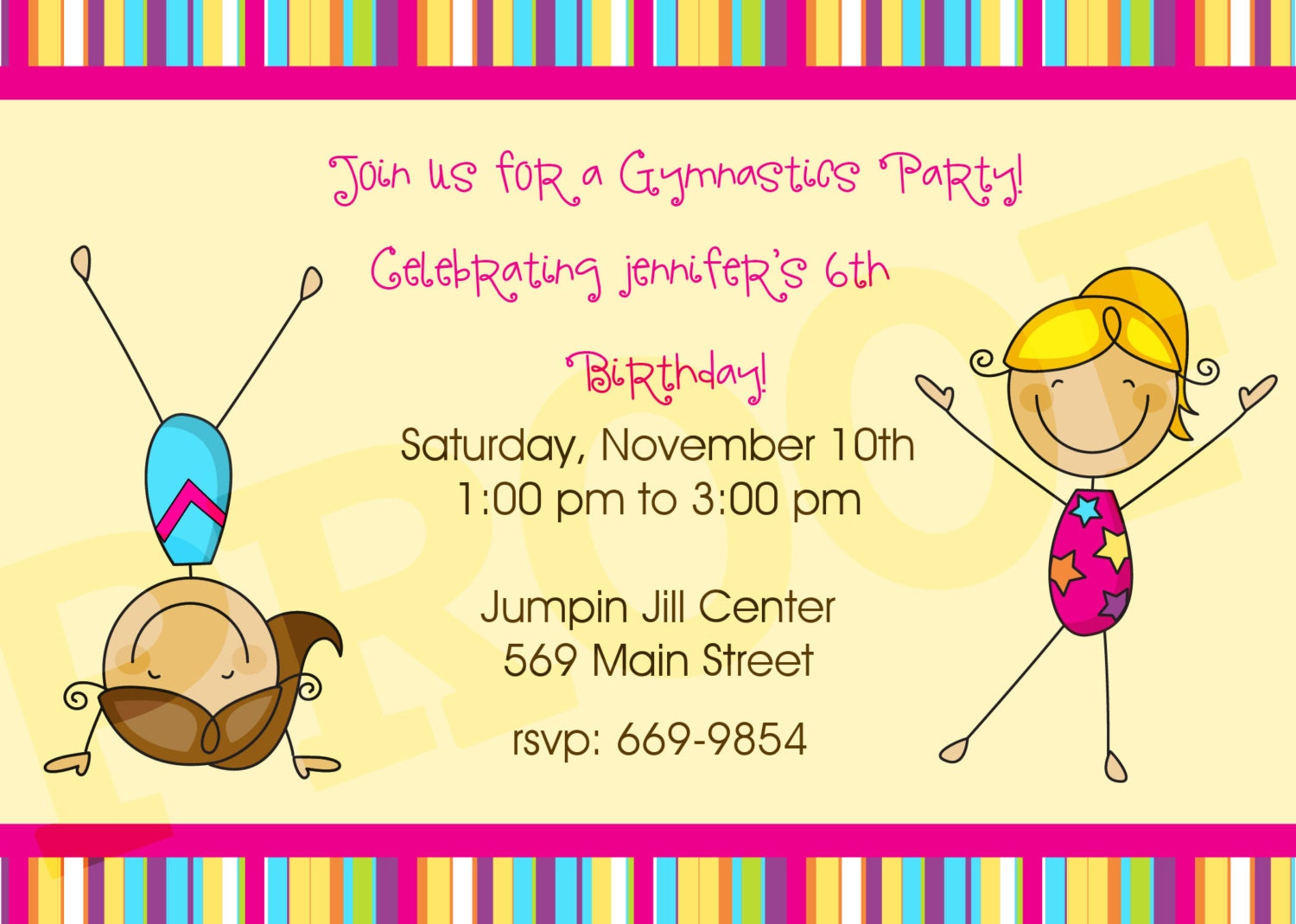 Gymnastics Party Invitations is the best ideas you have to choose for invitation example