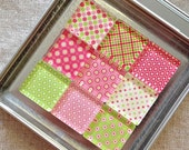 Pink and Green Magnets: Set of 9