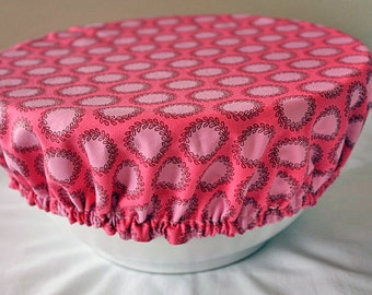 Bowl Covers Elastic Reusable Amy Butler Soul Blossom Pink Fabric