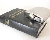 Vintage Hollow Book Safe and Flask- Holy Scriptures