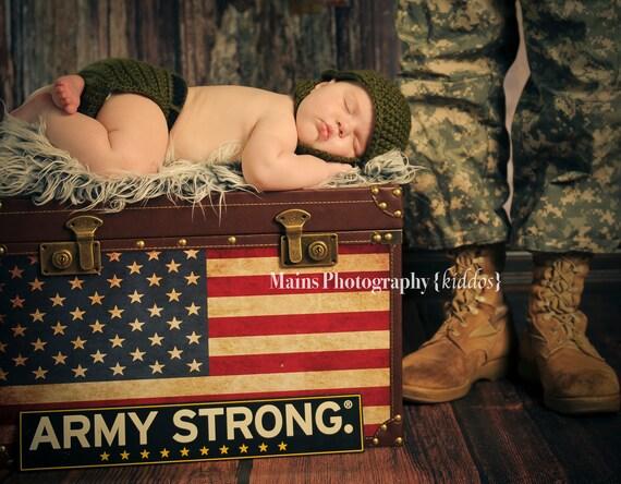 Custom Crochet Little Military Set
