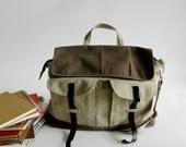 HAPPY NEW YEAR Sale - 25% off // Mackenzie in Two Tone // Satchel / Messenger /Laptop / Tote / Handbag  / For Her Him /Women