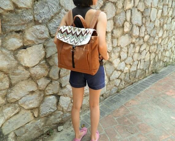 Sale Sale Sale  30% -Tanya in Ebony Backpack /Canvas Satchel  Rucksack /Laptop bag /canvas backpack /unisex School bag