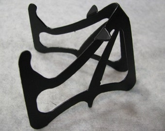 BLACK Bat Shaped Powder Coated Metal Phone or Business Card Holder