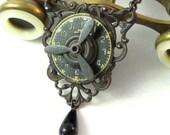 Steampunk Propeller Necklace OOAK Noir Neo Victorian Gothic Exclusive Design By Mystic Pieces