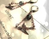 Little Birds Victorian style chandelier goth earrings