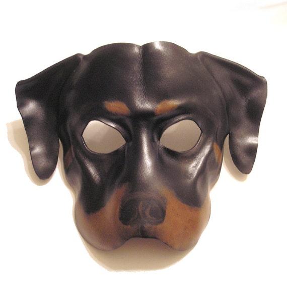 Rottweiler Dog Leather Mask