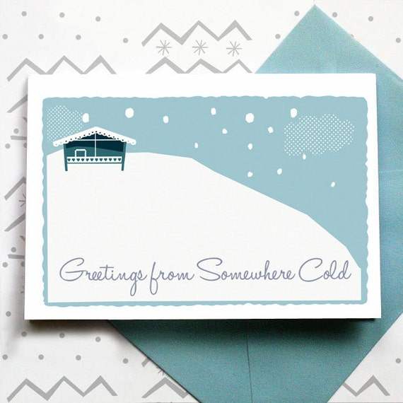 Greetings From Somewhere Cold - card set