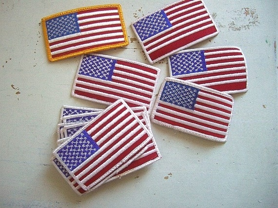 USA, Flag, Red, White and Blue, American Flag Appliques, Stars and Stripes, United States of America, Old Glory  Bag Clothing Applique