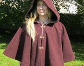 Custom Wool Full Circle Capelet with 3 Clasps SCA Renaissance LARP Medieval