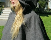 Custom Wool Full Circle Capelet SCA LARP Renaissance