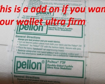 Not sold as fabric,This is a add on for your wallets to be ultra firm made with peltex