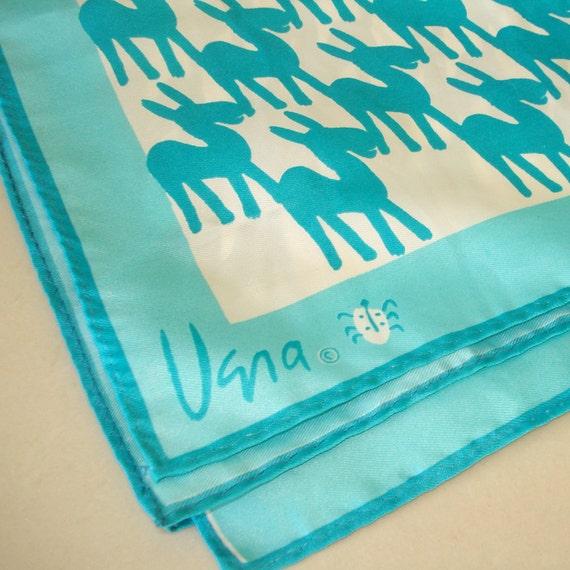 vintage vera scarf ladybug logo aqua donkey scarf
