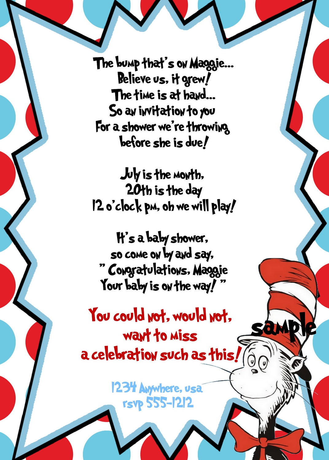 Cat In The Hat Birthday Invitations as best invitations layout