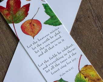 Autumn Leaves Bookmarks