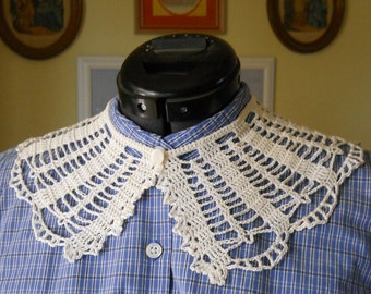 Crochet Collar Pattern - Godey's 1863 Civil War Era Collar Crochet Pattern