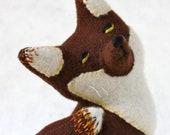 Fox Plush Folk Woodland Wool - Quick Brown Fox