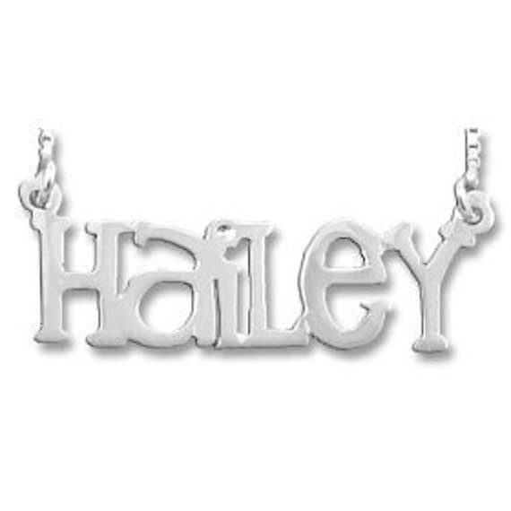 Sterling Silver Name Necklace - Choose From 5 Styles