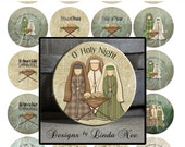Pinback BUTTON Images 1 inch round 1.313 overall size - Holy Night Nativity Digital Collage Sheet AMERICAN BUTTON Machine Tecre 1.837