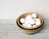 Pair of Vintage Stoneware Crockery Dough Bowls