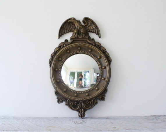 Small Vintage Eagle Mirror -  Porthole Nautical Style