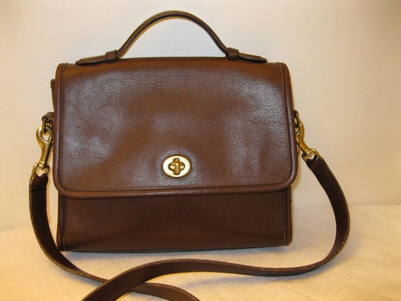 Reserved for Belle AliceAuth Coach Court bag satchel purse bag mod 9870 brown vintage awesome