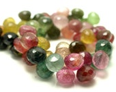 Out of this world -Multi Color Tourmaline Faceted Onion Briolettes