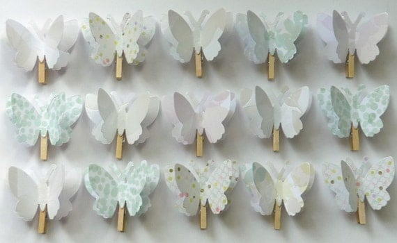 3D Paper Butterfly Memo Clips - ready to ship