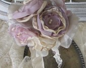 Bridesmaids  Bouquet Fabric Flowers  Custom Order any color