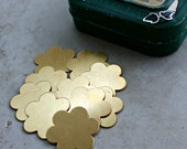 SALE -- for stamping -- Brass Petal Flower blanks, 7/8 in 24 gauge
