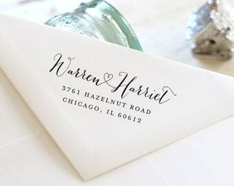 Custom Address Stamp - Self Inking Address Stamp - Return Address Stamp - Personalized Gift - Housewarming Gift - Wedding Gift - 3000