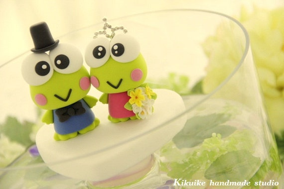 frog  Wedding Cake Topper-love frog cake topper------k781