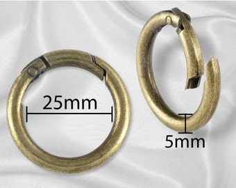 "2pcs - 1"" Gate Ring Antique Brass - Free Shipping (GATE RING GRG-112)"