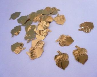Vintage Gold Acorn Sequins NOS (25)