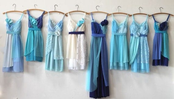 Individual Final Payments for Courtney Rogers' Custom Bridesmaids Dresses
