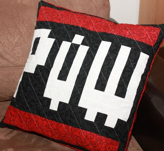 POW Quilted Pillow Cover