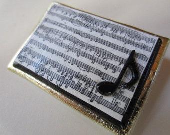Musician music lover pin brooch