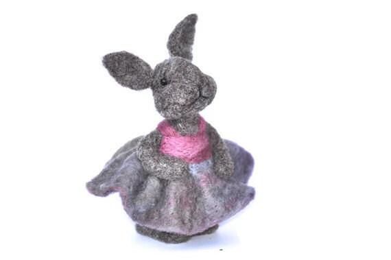 Needle felted Bunny Rabbit - needle felted animal