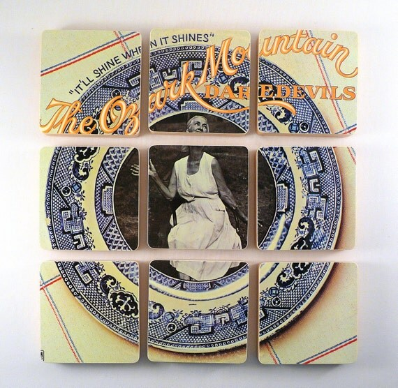 OZARK MOUNTAIN DAREDEVILS Album Coasters with Record Bowl