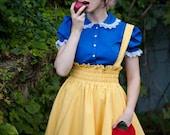 Snow White Inspired Lolita Blouse Retro Style Blue-Custom to Your Size