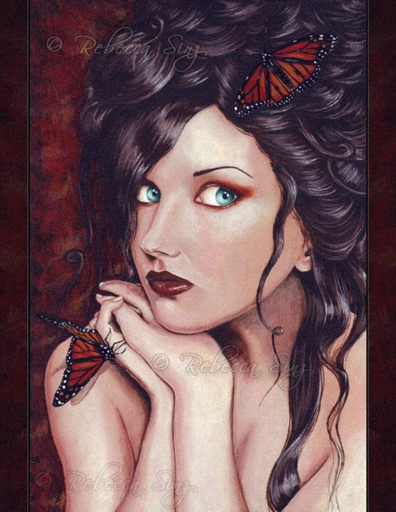 Lady Monarch 8.5 x 11 inch Print