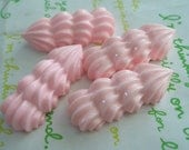 sale Long Pink Whipped Cream Cabochons 4pcs