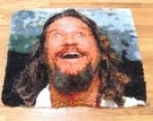Big Lebowski Dream, Latch-hook rug, The Dude abides. Limited edition.