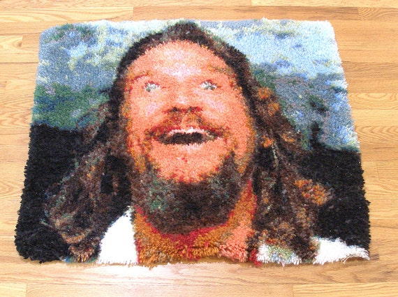 Big Lebowski Dream, Latch-hook rug, The Dude abides. Limited edition.