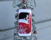 ELVIS SANTA BABY in Red Domino Christmas Tree Ornament