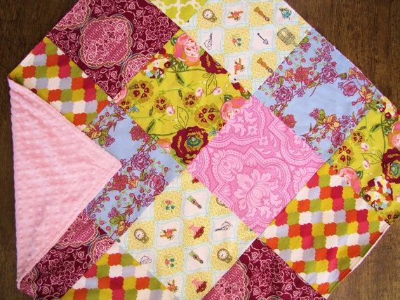 32x32 Lilly Belle Baby Blanket Ready to Ship